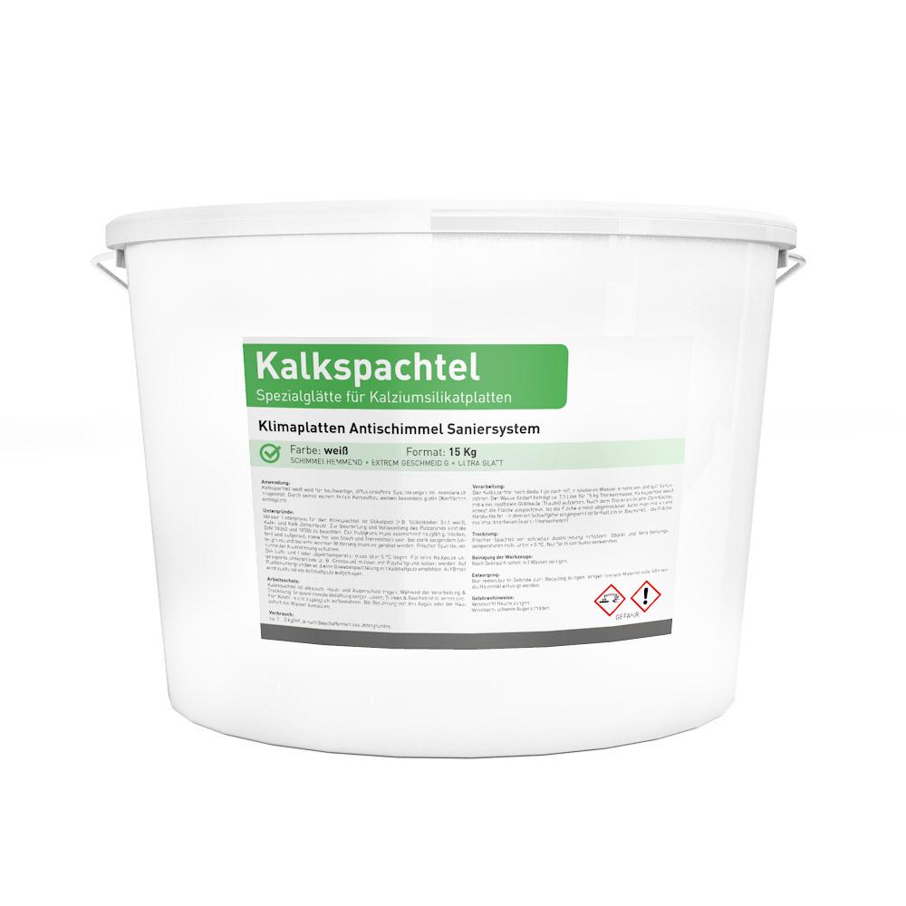 Kalkspachtel / Glätte 15kg Eimer in weiß