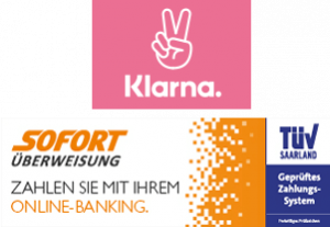 Zahlungsart: Klarna / Sofortüberweisung Logo