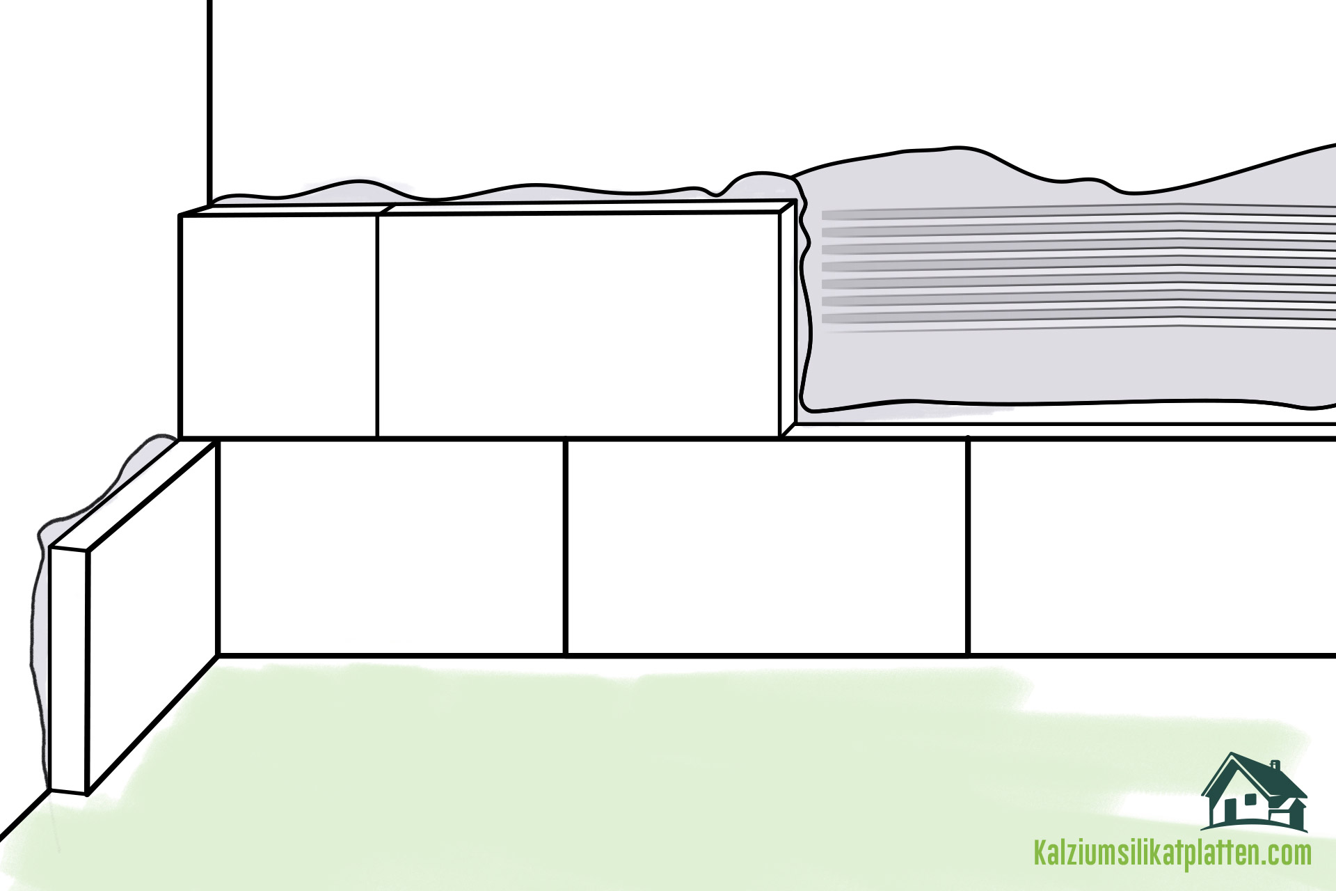 Anleitung zur Verarbeitung von Kalziumsilikatplatten: Silikatkleber aufziehen