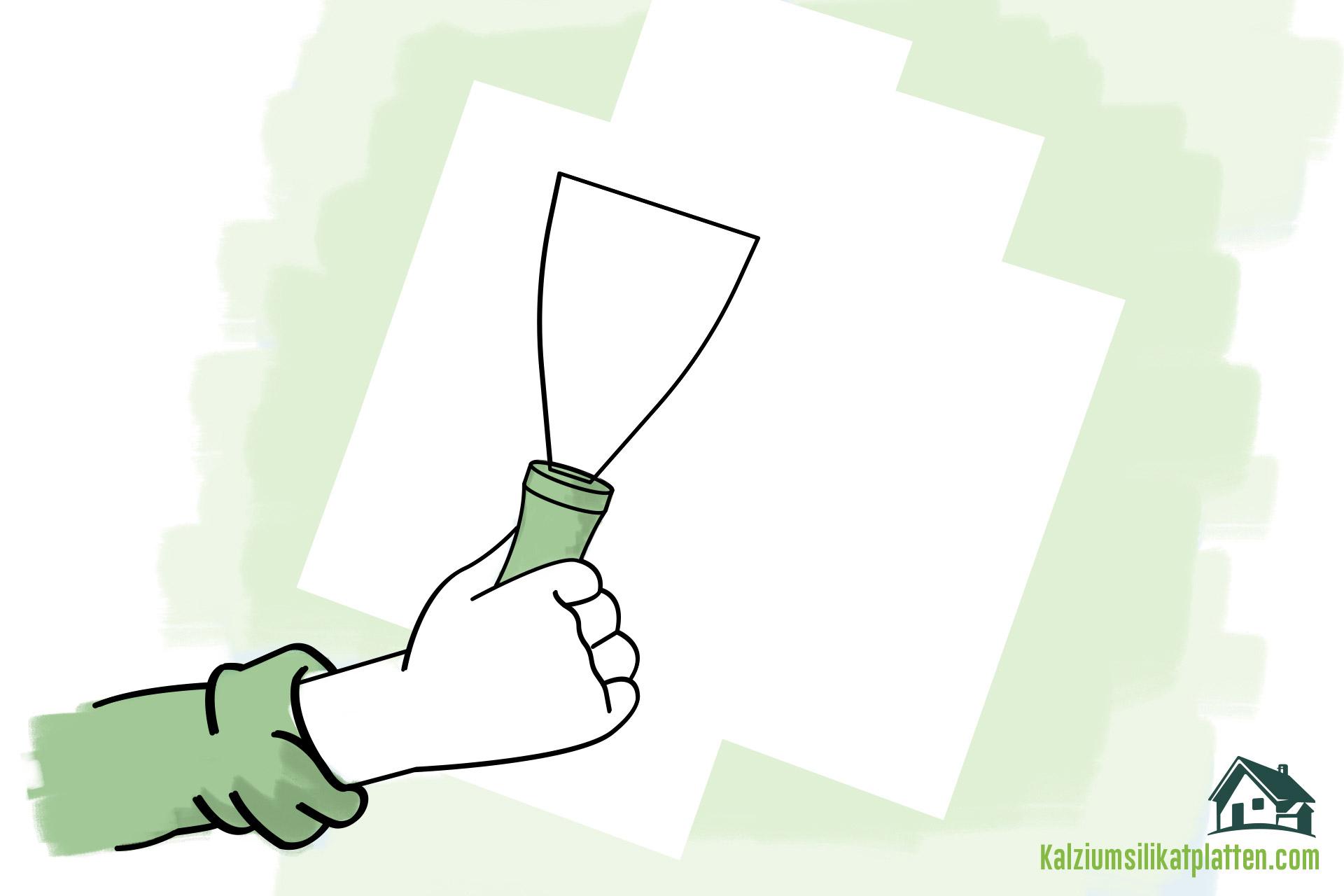 Anleitung zur Verarbeitung von Kalziumsilikatplatten: Wand reinigen und vorbereiten