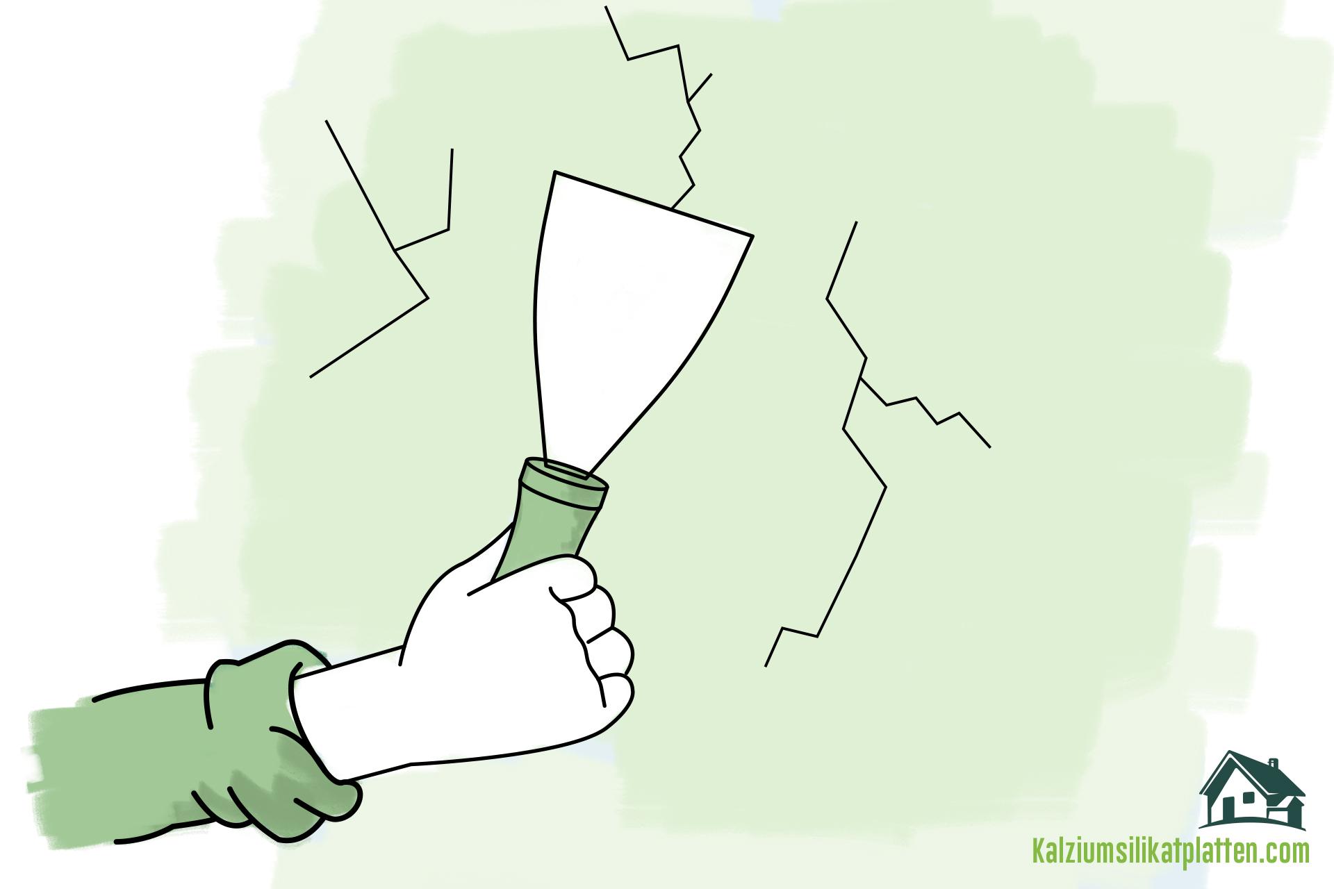 Anleitung zur Verarbeitung von Kalziumsilikatplatten: Wand glätten und Unebenheiten beseitigen