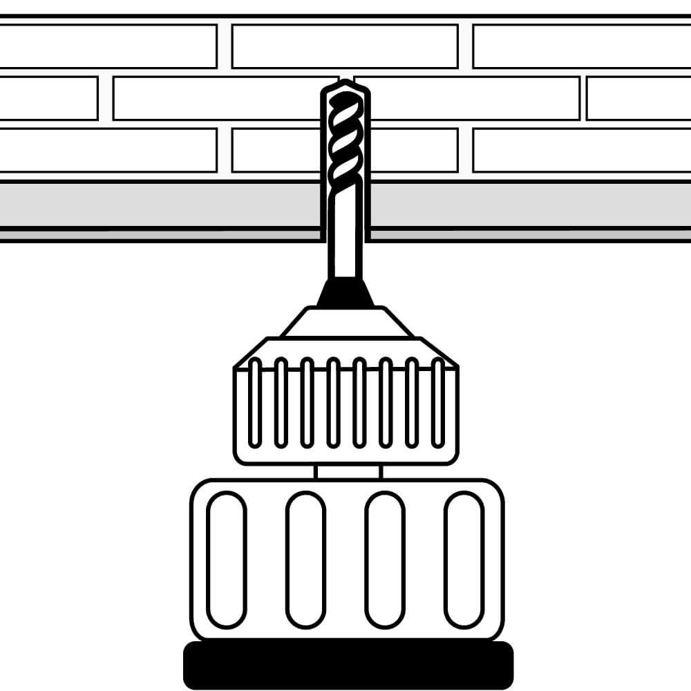 Decken- und Wandschrägen Montage (Schritt 1)